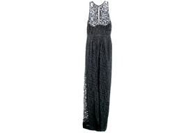 J Crew Women's Pamela Long Dress In Leavers Lace Black Sz 16 C5557 - $91.99