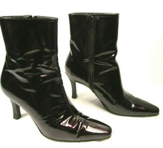 Stuart Weitzman Womens Burgundy Patent Leather Side Zip Ankle Boots Size  7.5 B - $38.22