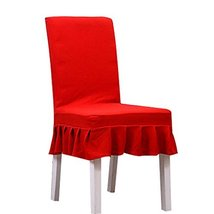 Koala Superstore Dark Red Chair Slipcovers 2 Pcs Fit Stretch Elastic Sho... - $19.17