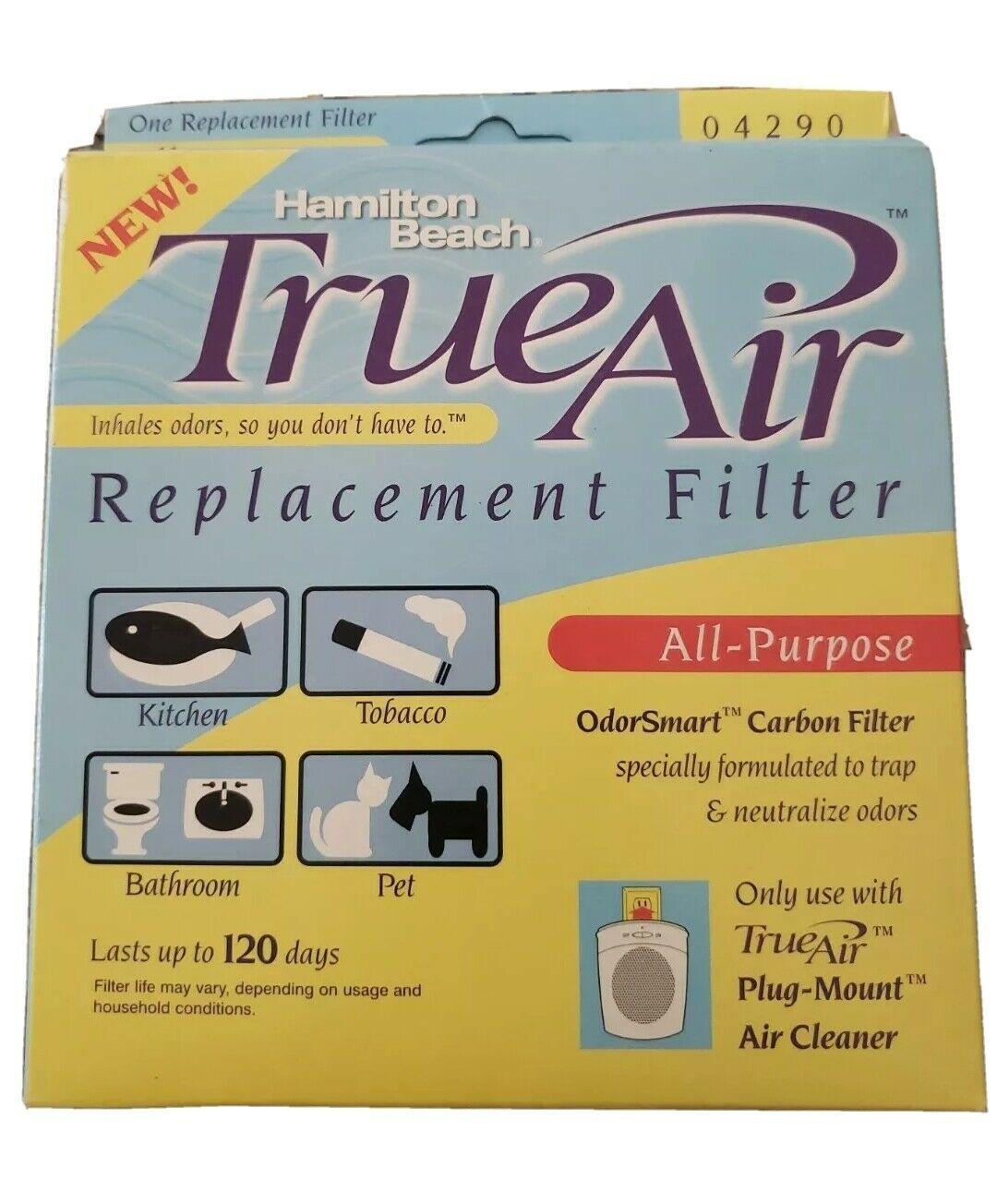 True Air Original Hamilton Beach Carbon Filter 120 days Replacement Filter 04290 - $11.87