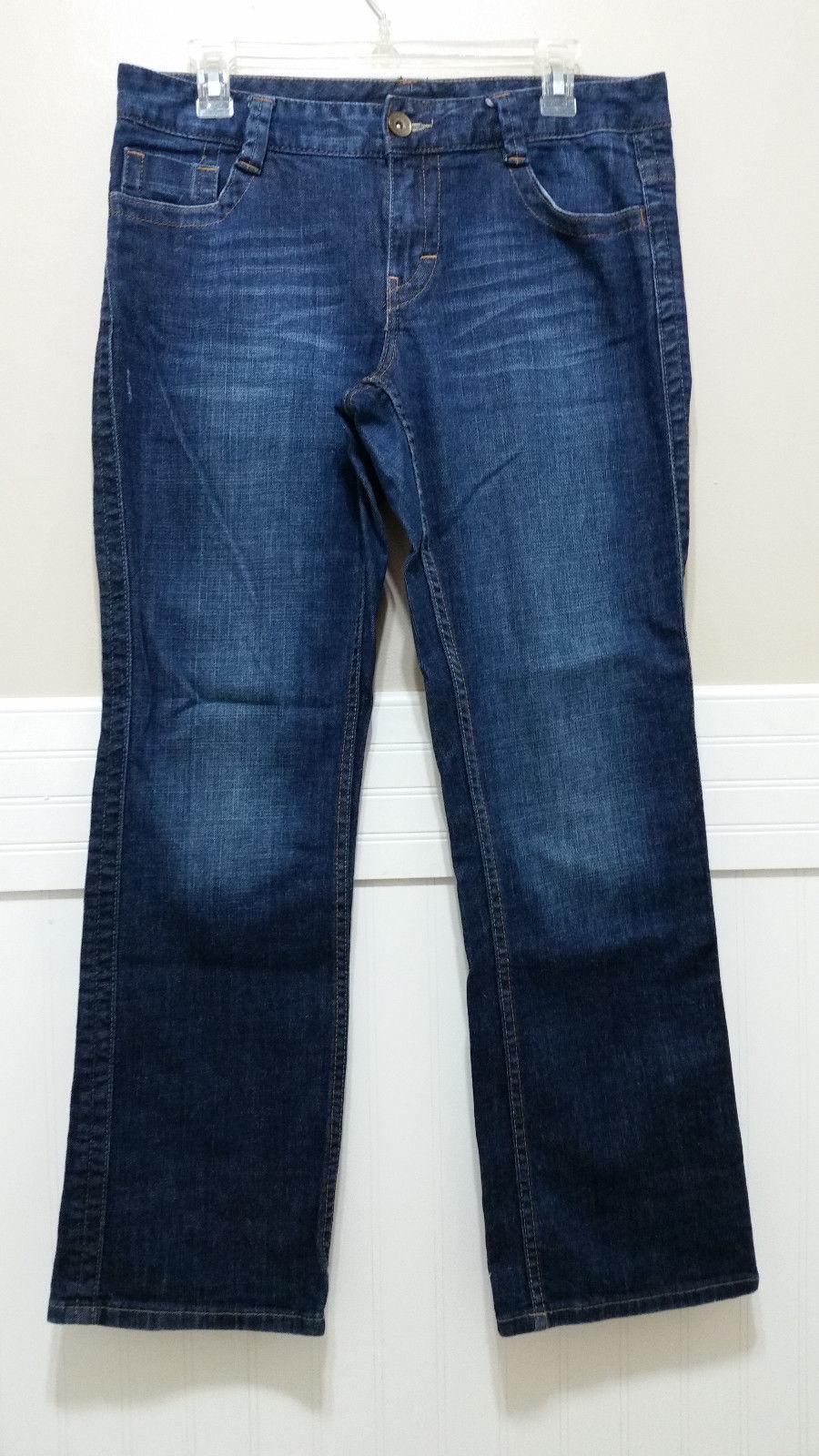 f57103ef94 S l1600. S l1600. Previous. CALVIN KLEIN Jeans Ladies Sz 10 Lean Bootcut  Dark Wash Faded Blue Denim Pants