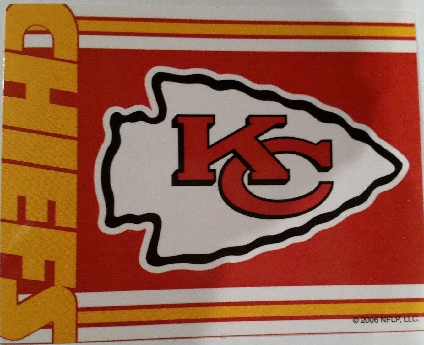 Primary image for 2006 A & A Global Ind. Vending Machine NFL Sticker Kansas City Chiefs (3.5 x 3)