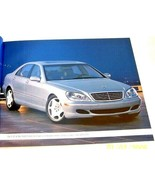 2003 mercedes s55 amg s600 s500 s430 owners sales brochure new original - $34.64