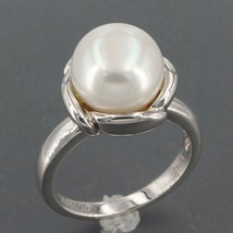 Sterling Silver Honora 10.5mm Pearl in Bloom Solitaire Flower Ring Size ... - $29.99