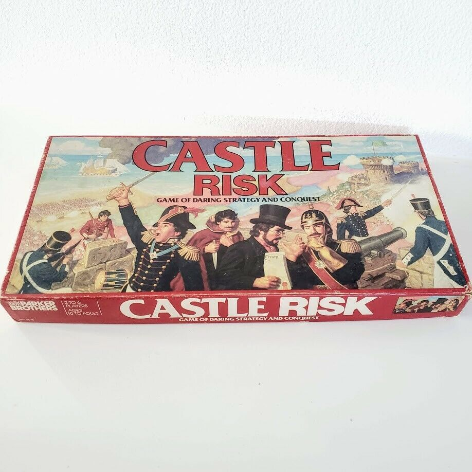 1986 Castle RISK Strategy Board Game EUROPE MAP Parker Brothers COMPLETE
