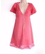 Pink 100% Cotton LA REGINA A-line Ladies Women's Blouse Top Tunic Size U... - $26.81