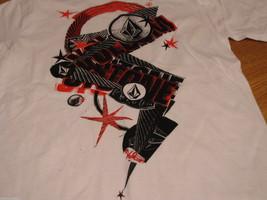 Boys youth kids Volcom Stone short sleeve white red black  TEE logo XL t shirt image 2