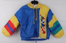 Vintage toddler Kids London Fog hoodie yellow blue full zip jacket size 3T - $14.70