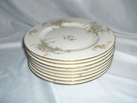 "8 Vintage 7.50"" Salad Plates Theodore Haviland China Apple Blossom New York - $113.85"