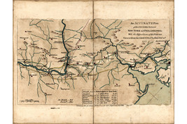 Revolutionary War Map; Forces between New York and Philadelphia, 1777 - $26.72+
