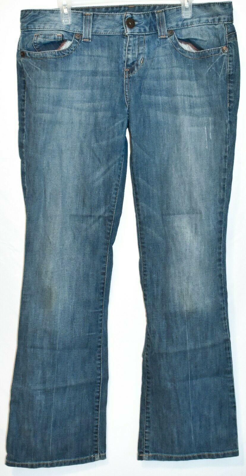Guess Jeans Women's Daredevil Boot Cut Blue Denim Stretch Size 34