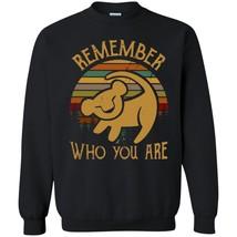 Simba Remember Who You Are Vintage G180 Black Sweatshirt 8 oz Unisex - $32.66