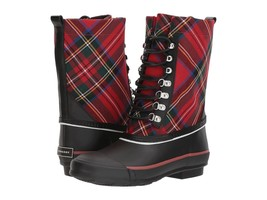 Burberry Rowlette Mid-Calf Check Rain Boots Size 35 MSRP: $295.00 - $195.50