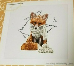Thea Gouverneur HEY THERE FOXY LADY Cross Stitch Kit 744A NEW Fox Animal... - $25.99