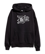 D12 White Logo Hoodie Hip Hop Rap Sweatshirt Eminem Kamikaze merch Shady... - $31.49