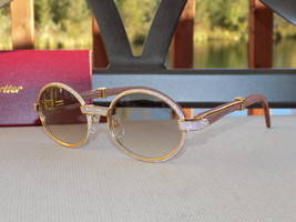 c70c1eb20d7c Cartier Smooth Acrylic Bezel 2019 Rosewood Buffalo C Décor Sunglasses Sh...  -  500.00