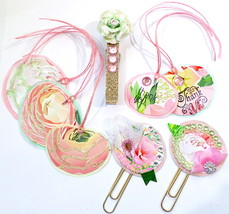 Handmade Tags, Bookmarkers, And Clip Set For Gifts, Packaging, Organization - $6.50