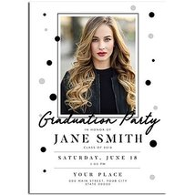 Black and Silver Class of 2018 Graduation Invitation - £15.41 GBP
