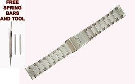 22mm Silver Steel Watch strap Bracelet For Seiko 5 Divers 200m SKZ249 52... - $58.40