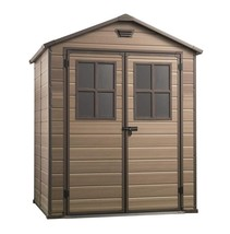 Outdoor Garden Storage Shed Plastic Door Ventilation Garden Tools 6x5 ft... - $890.55