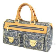 LOUIS VUITTON Neo Speedy Monogram Denim Blue Handbag M95019  Authentic 5404810 - $637.19