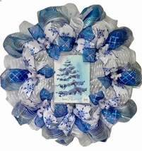 Love Peace Joy Deco Mesh Winter Or Holiday Wreath - $89.99