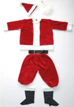 Adulto Santa Claus Traje St. Nick Disfraz Barba Sombrero Cinturón Cubre Zapatos
