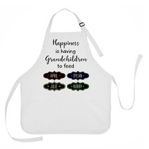 Mother's Day Apron, Grandmother Apron, Happiness is Having Grandchildren... - $23.71 CAD