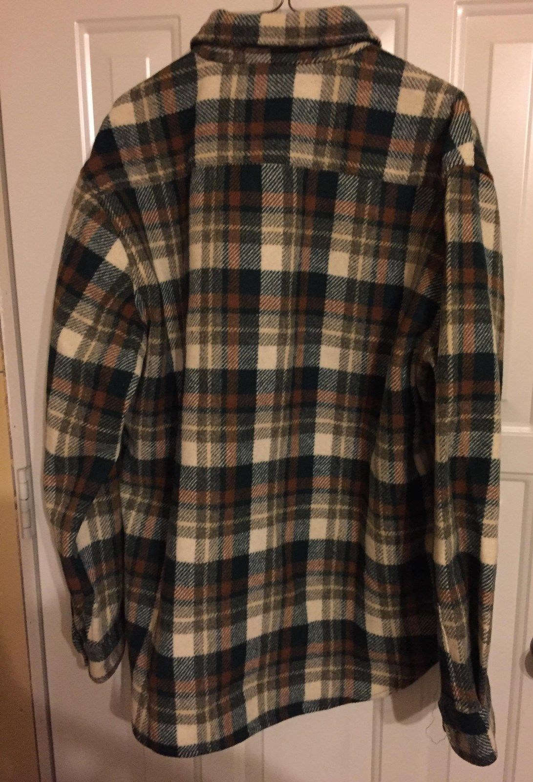 Vintage 1980's Sears Green Plaid Wool Jacket - Size 42 mOHJ3zj