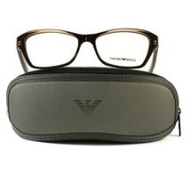 Emporio Armani EA3032 Eyeglasses 5222 Transparent Brown Plastic 54 16 140 - $57.00