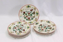 "Joy of Xmas Salad Plates 7.5"" Set of 8 - $32.83"