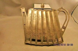 Godinger Teapot Shape Trivet Silver plated 1992 Kitchen Trivet silverpl... - $12.19
