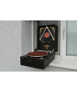 Vintage Old  Columbia N 112A Gramophone With Box - $257.50