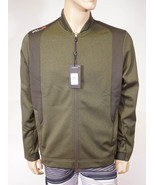 RLX Ralph Lauren Men's Green Grey Full Zip Sports Bomber Fleece Jacket $225 - $79.99