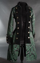 NWT Women's Green Black Brocade Victorian Goth Vampire Pirate Jacket Reg... - $119.99