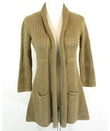 ANTHROPOLOGIE Angel of the North Size M Open Knit Cardigan Sweater - $32.99