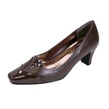 PEERAGE Shannon Women Wide Width Square Faux Patent Closed Toe Mid-Heel ... - $53.95