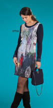Simply Art Dolcezza: Midnight Blue Birch Tree Abstract Dress/Tunic (3 le... - $144.00