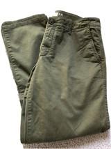 Gap Khaki Crop Kick Pants Size 8R Womens Capri Boot Cut Olive Green - $18.57