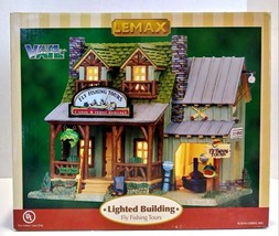 Lemax Vail Village Fly Fishing Tours Lighted Village Retired - £37.99 GBP