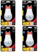 4 pack FEIT Electric A19 LED Bulb 800 lumens GU24 60 Watt - $26.63