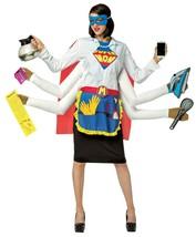 SUPER MOM MOTHER 6 HANDED Multi Tasking HALLOWEEN COSTUME Fits sizes 4-10 - $45.46