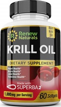 Antarctic Krill Oil 1000 mg Serving with Omega-3s EPA DHA Astaxanthin Su... - $62.93