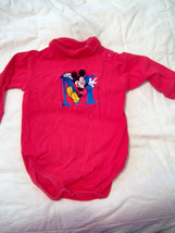 The Disney Store Red Longsleeve Mickey Mouse  Turtleneck sz 3 months - $3.47