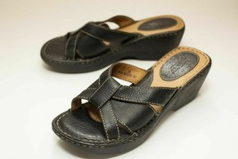 Born Size 7 Black Platform Sandals - $42.00