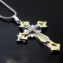 BRAND NEW Drop Dead Gorgeous 24k Gold Filled Cross on Chain~Gift Bag Inc... - $23.99
