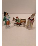 Vintage Three Porcelain/Ceramic Figurines Made In Japan - $5.53