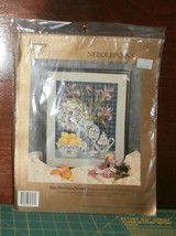 "Blue Porcelain Picture Something Special Needlepoint 14"" x 18"" Unopened  - $29.02"