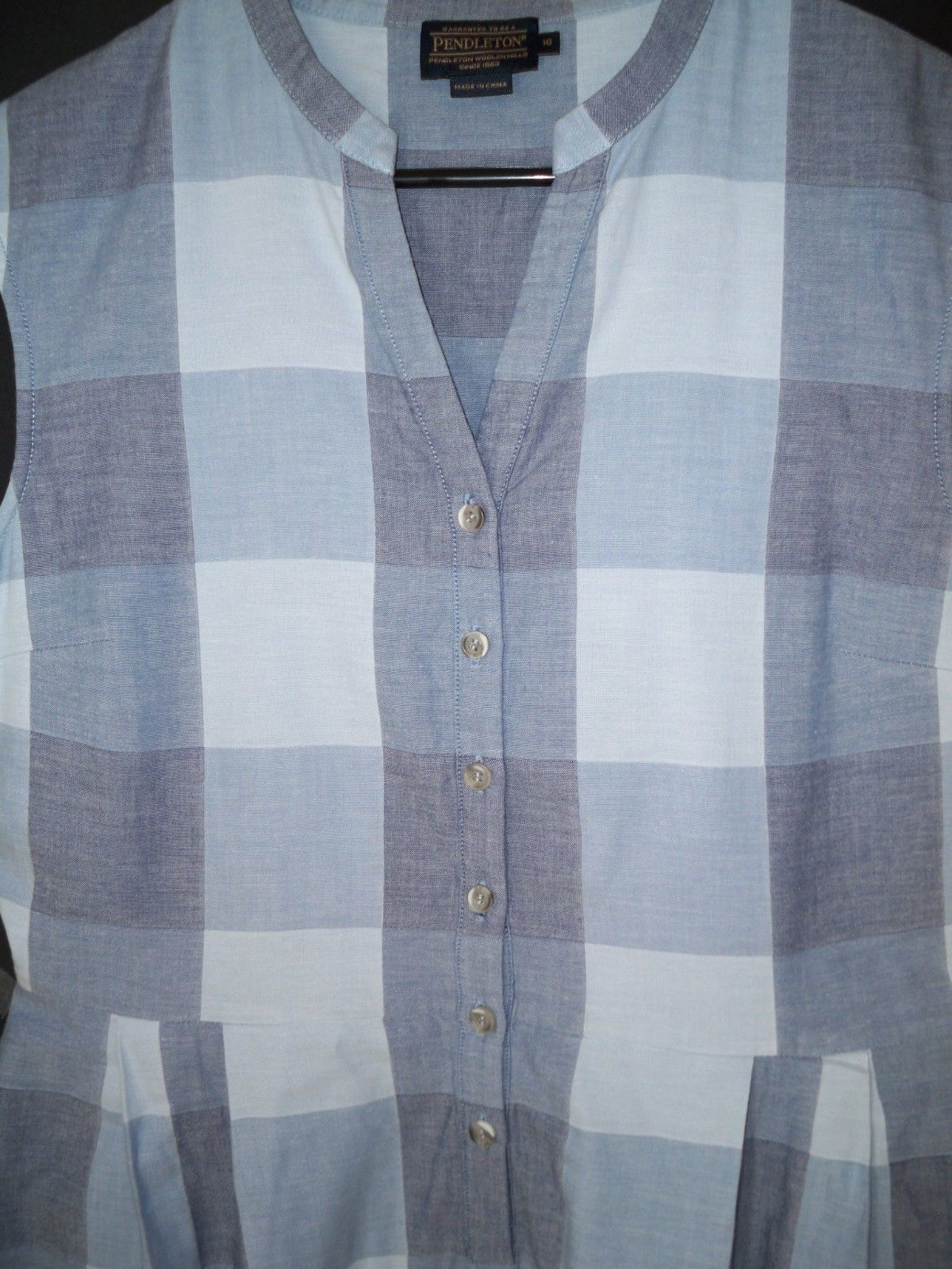 Pendleton Malena Dress Plaid Check Cotton Shirt-dress Midi 10
