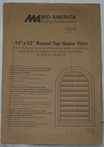 Mid America 00441422095 Siding Components Round Top Gable Vent Clay Color image 4